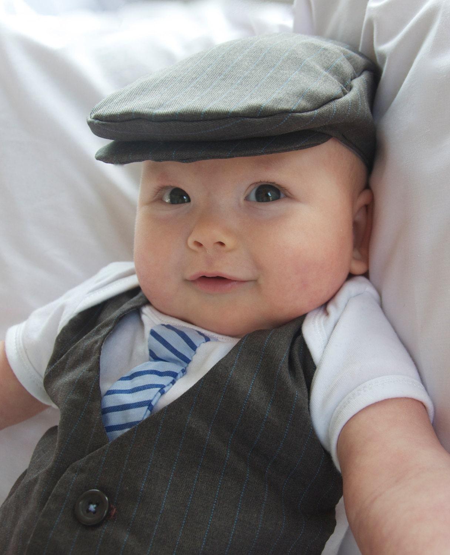 751c5c2d0 J by Jasper Conran Baby boys' designer navy quilted flat cap | Debenhams