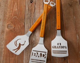 Father's Day Gifts - Personalized Grilling Spatula - Spatula with Personalized Handle - Custom Spatula - Gifts for Dad -  RO1127