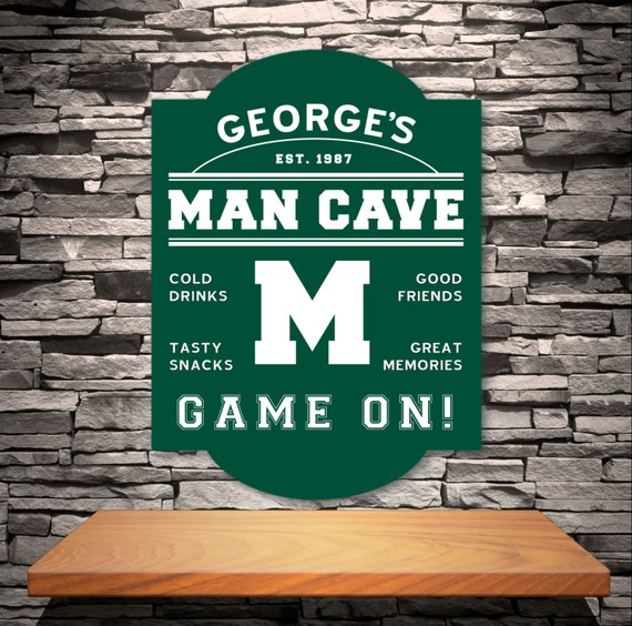 Man Cave Signs Uk : M for man cave personalized mancave sign home