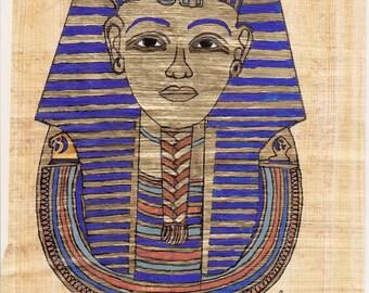 Egyptian Mask on Papyrus (c)