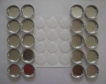Silver bottle cap kit for 20 bottle caps.