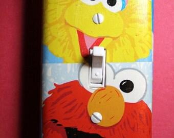 Sesame Street Big Bird and Elmo Light Switch Plate Cover boys girls child kids room home decor bedroom nursery seseme st