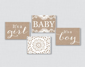 Burlap and Lace Baby Shower Mini Candy Bar Wrapper for Baby Shower Printable Miniature Hershey Bar Wrappers - Instant Download - Burlap 0063