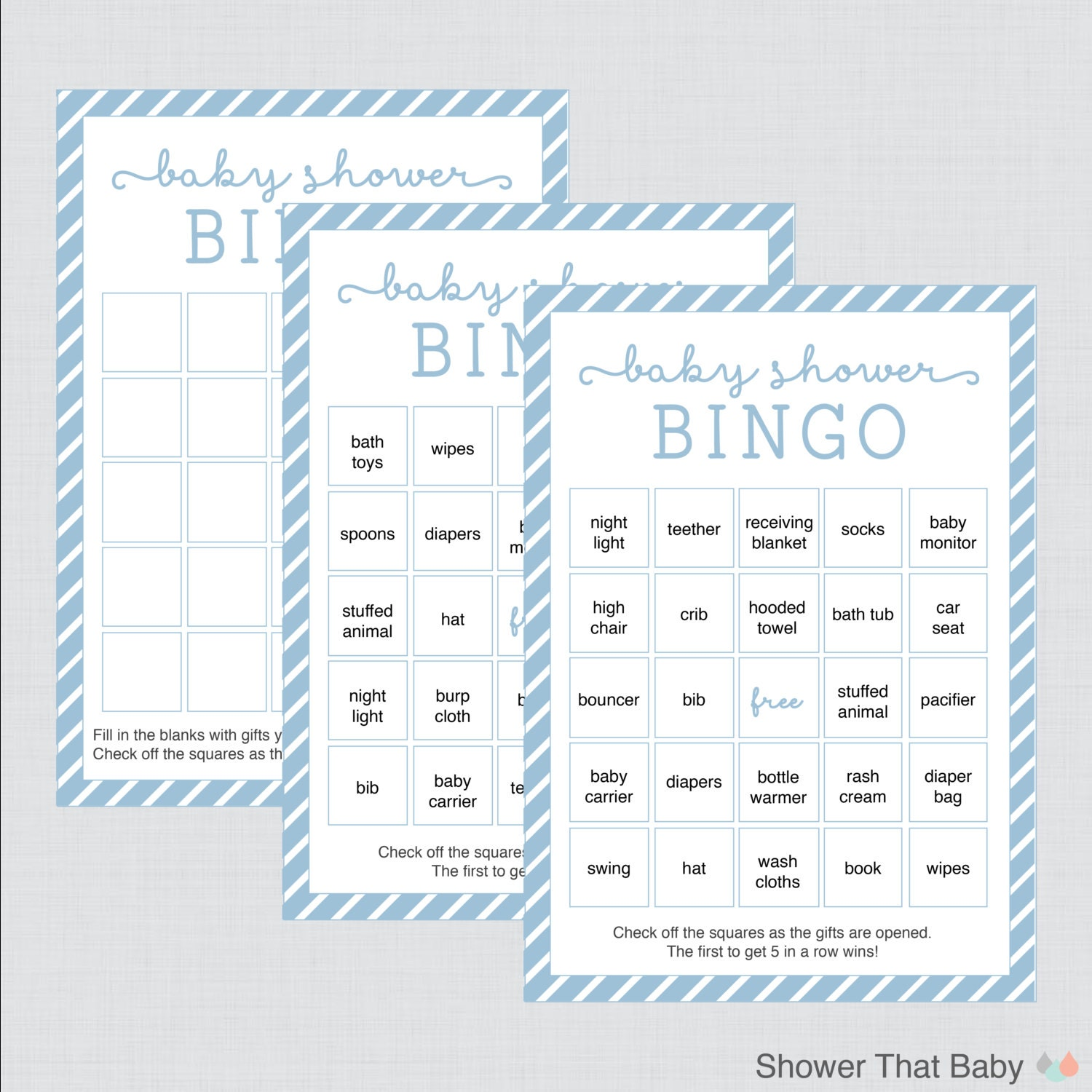 It's just an image of Impeccable 40 Free Printable Baby Shower Bingo Cards