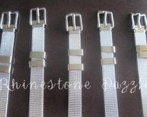 10pc Stainless Steel Adjustable Bracelet for 8mm Slide Charms, Wholesale Slide Charm Bracelets, Slide Charm Wristband