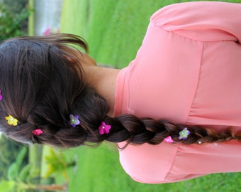 Painted Sunset- Flower Braid Hair Extension