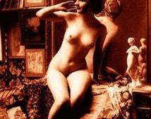 """Vintage Risque Nude Exotic - Boudoir #010 Canvas Art Poster 16"""" x 24"""""""