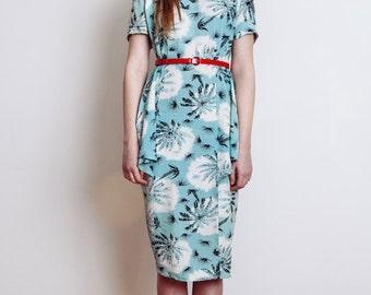 50's Vintage Floral Printed Dress