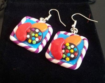 Candy Crush Saga Inspired Earrings Handmade