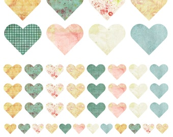 Fabric Heart Wall Stickers