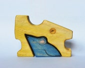 MOUSE AND CHEESE Puzzle, Pet animal series / Handmade Wooden Toy Waldorf Inspired