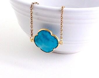 Quatrefoil Bracelet- Turquoise- Stackable Bracelet