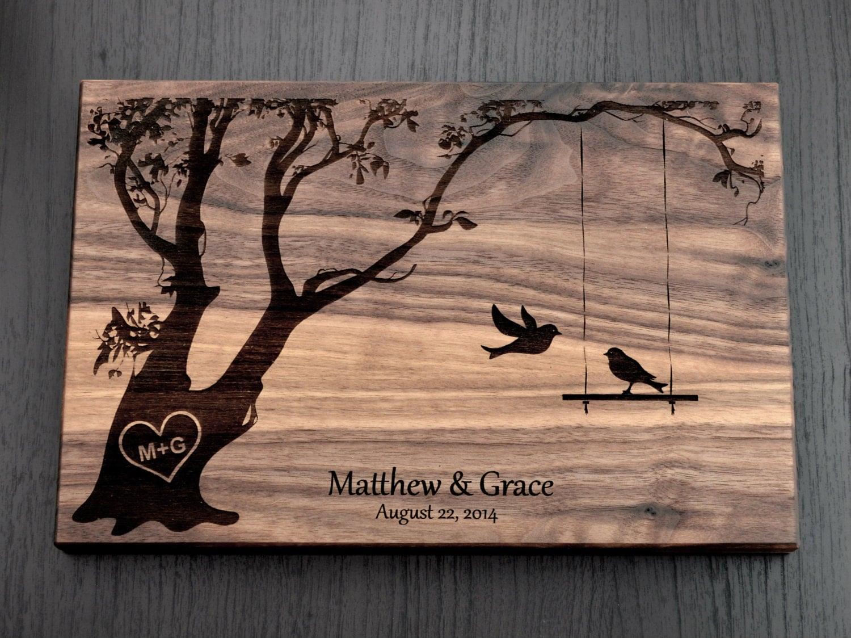 Wedding Gift Cutting Board: Personalized Cutting Board Wedding Gift Custom By TrueMementos