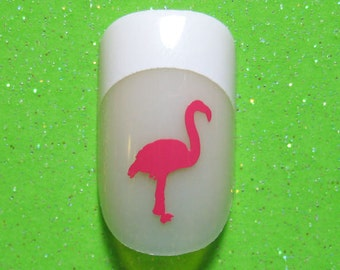 Flamingos vinyl nail decals stickers