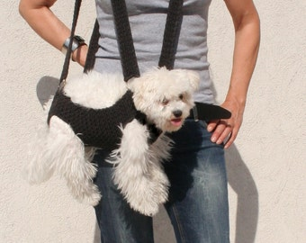 Pet carrier / Crochet dog carrier / BubaDog pet carriers