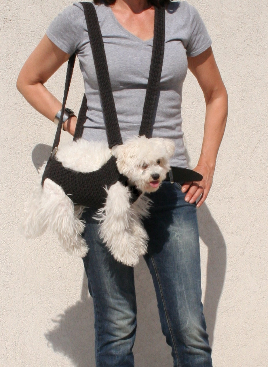 Pet carrier crochet dog carrier bubadog pet carriers - Dog carrier sling pattern ...