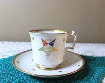 Masonic Teacup and Saucer, Free Masonry