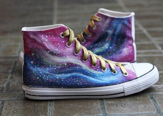 items similar to harajuku fashion galaxy canvas shoes