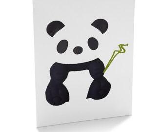 Panda print cards (pack of 6)
