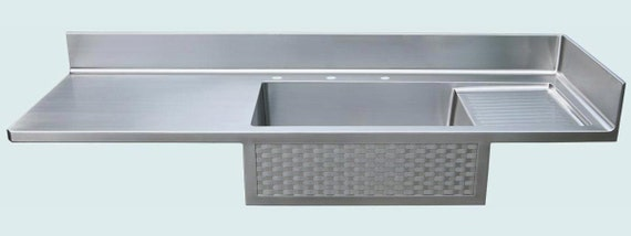 Stainless Countertop With Integral Sink By Handcraftedmetal