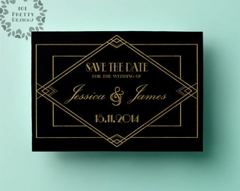 deco save the dates etsy. Black Bedroom Furniture Sets. Home Design Ideas