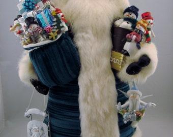"""Snowman Santa - Santa Claus Doll - 21"""" Tall"""