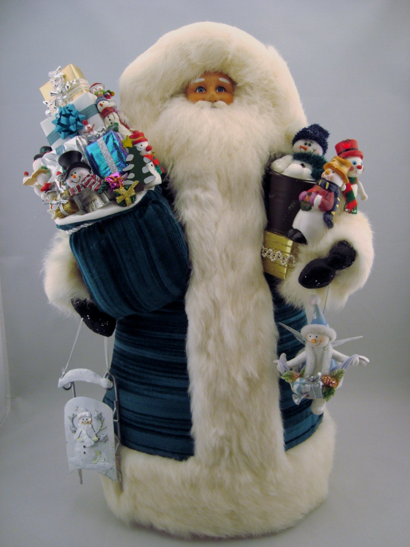 Snowman santa claus doll tall