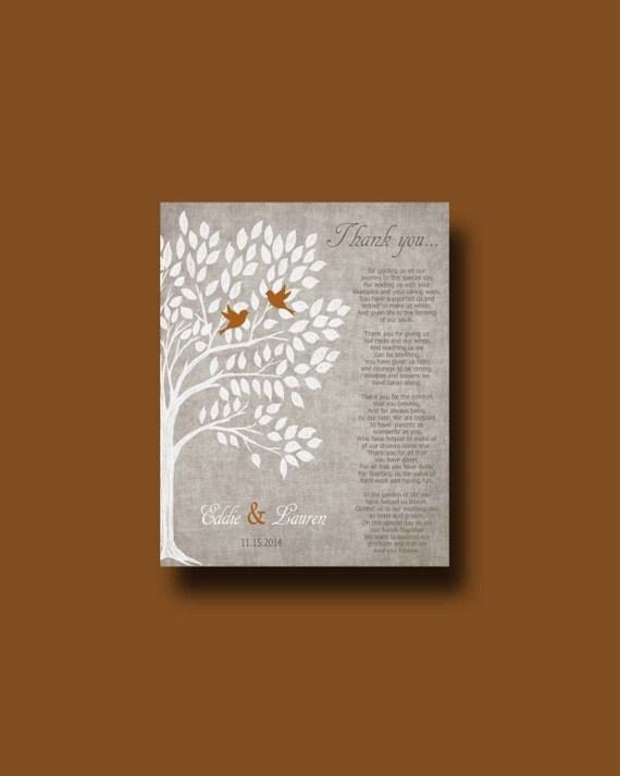 Wedding Day Gifts For Parents Online : Gift, Personalized Parents Poem, Thank You Parents Gift, Wedding Da...