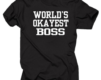 Worlds okayest boss | Etsy