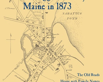 The Old Maps of Androscoggin County, Maine in 1873