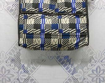 Plaid African print padded computer bag ON SALE from 25.00