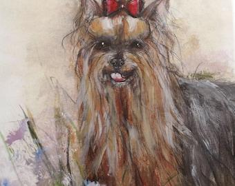 Yorkshire Terrier Dog Print