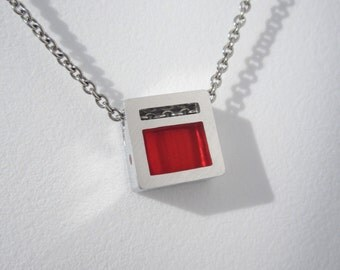 Minimalist Red Necklace – Minimalist Contemporary Jewelry Design