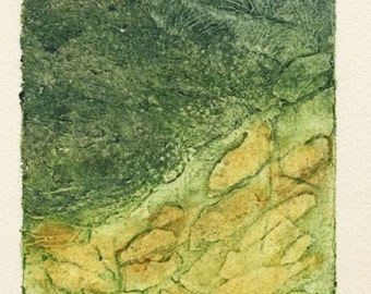 Transect II collagraph print limited edition of five