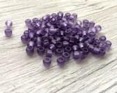 Toho glass seed beads size 6 toho matte purple