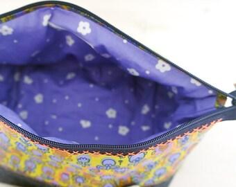 Purple Flowers - Cosmetic Zipper Pouch