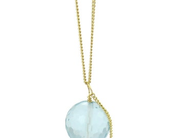 Birdhouse Jewelry- Aquamarine Mini Me Necklace