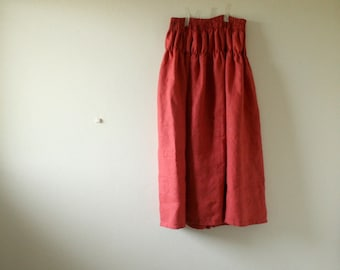 LONG LINEN SKIRT - e / maxi / womens linen clothing / summer skirt / eco / plus size clothing / organic / australia / pamelatang