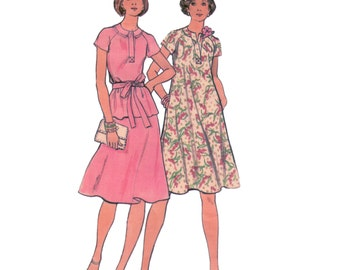 70s XL Fit and Flare Dress pattern or Flare Skirt vintage pattern 40-32-42 Plus Size SALE