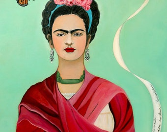 """Frida Kahlo and the Butterfly 12"""" x 16"""""""