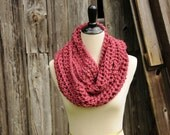 RTS Infinity Cowl Scarf in Sangria