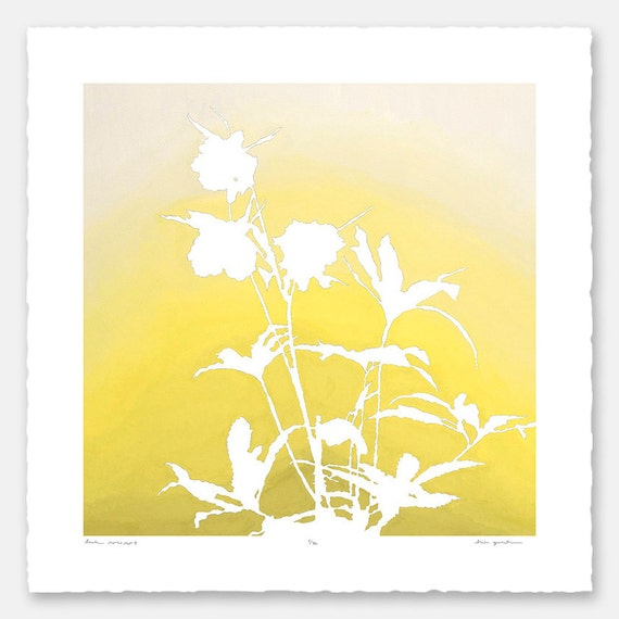 Limited edition botanical print with hand-torn edges - Lenten Rose No. 3