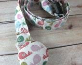 Fabric Lanyard with Retractable Badge Reel - ID Badge Holder - Birdies