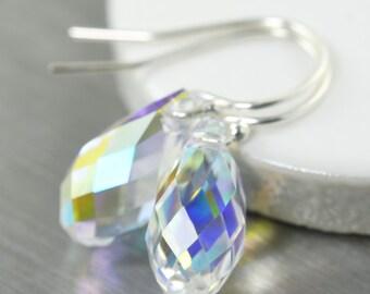 Diamond earrings Swarovski crystal drop earrings gifts for her