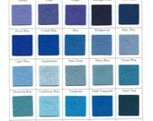 Wool Felt -  CHOOSE THREE-  8 x 12 - Radiant Orchid Felt, Blue Felt, Purple Felt, Teal Felt - Craft and Sewing Felt DIY  Pattern Supply