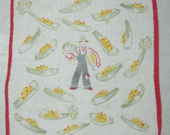 Vintage Appetizer Textile Danish Cheese
