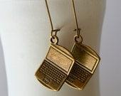 Custom Order, NaNoWriMo Writer Earrings, Writing Computer Earrings, Bronze Author Earrings, Tech Nerd Geek Earrings, Teacher School Earrings