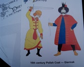 SALE Polish Coat 16th Century Giermak Pattern Reconstructing History Clothing Pattern  Rh404
