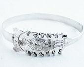 Vintage Sterling Silver Soldier Bracelet