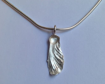 AW Maple Seed Silver Necklace - Solo